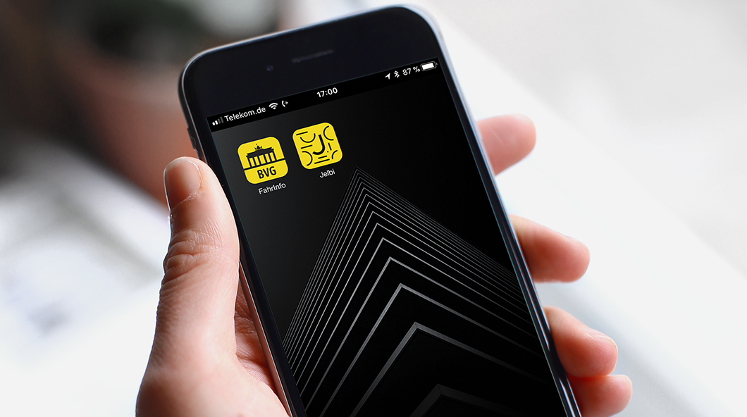 Jelbi App Icon, Smartphone