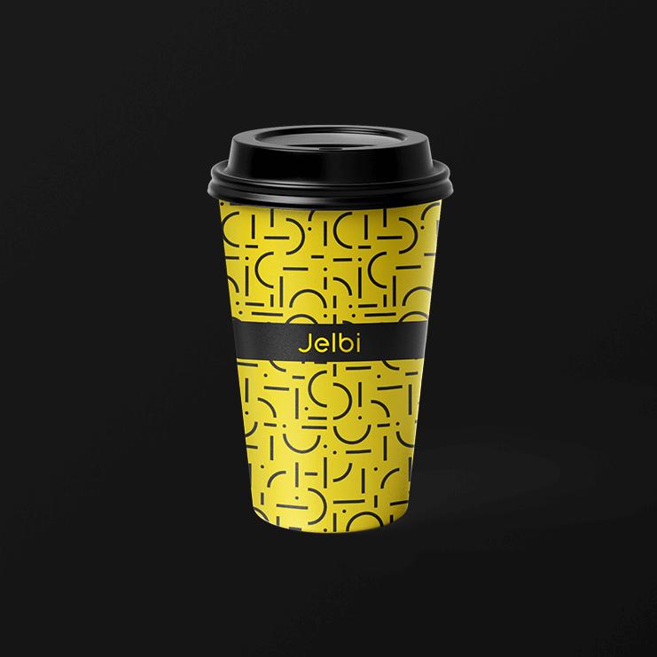 Jelbi Merchandising coffee mugs to go