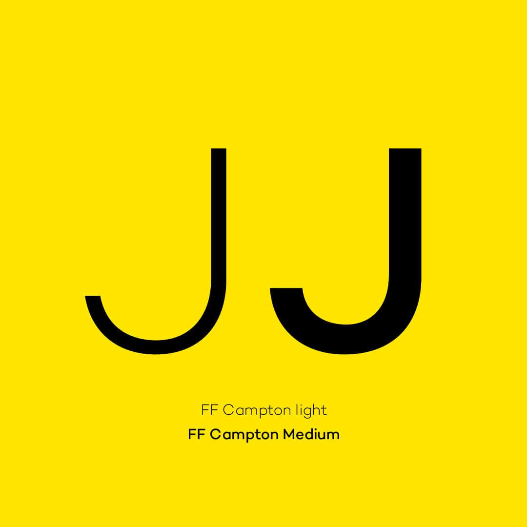 Jelbi font FF Campton