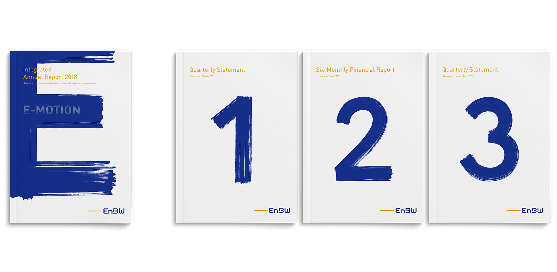EnBW annual report 2018 all covers