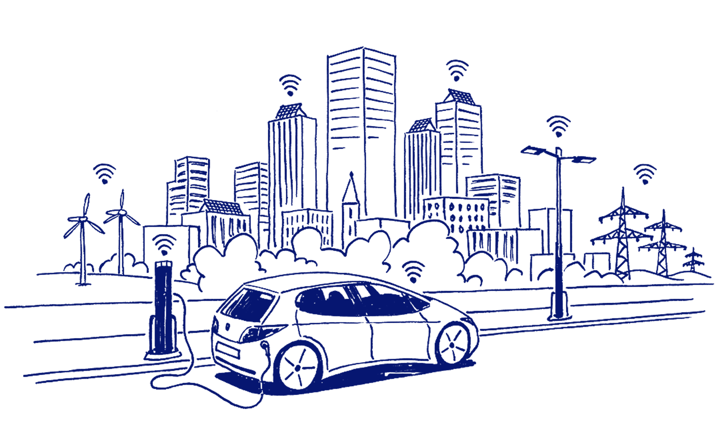 EnBW annual report illustration e-mobility