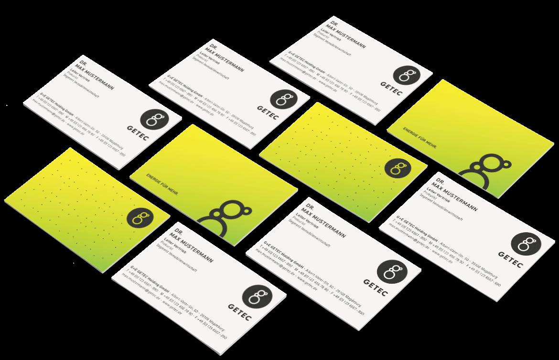 GETEC Media Buisiness Cards
