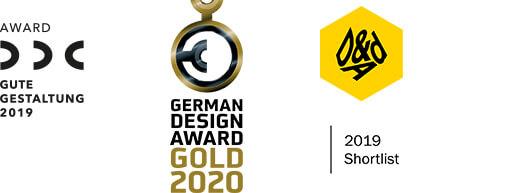 Jelbi Awards DDC Good Design 2019, German Design Award Gold 2020, German Design Award - Special 2019