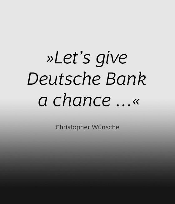 #PositiveImpact: Let's give Deutsche Bank a chance
