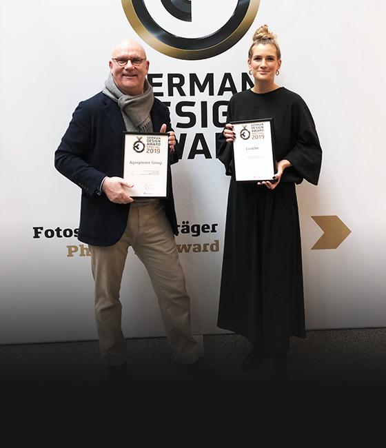 So proud! German Design Award 2019 ceremony in Frankurt