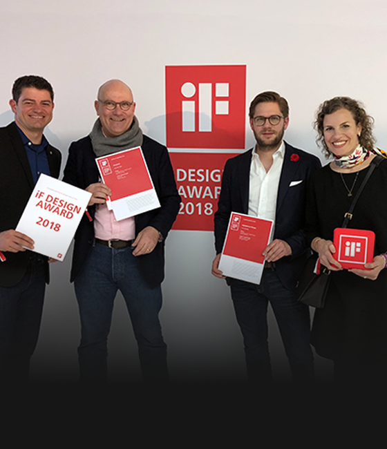 Excellent work – two iF Awards 2018 for our team!