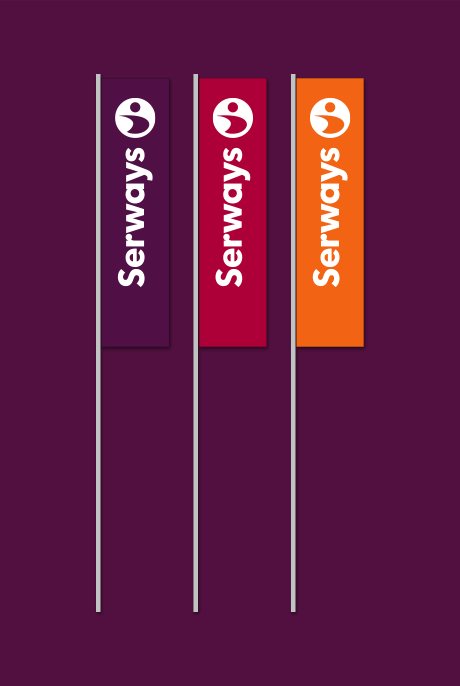 Serways Media Flags