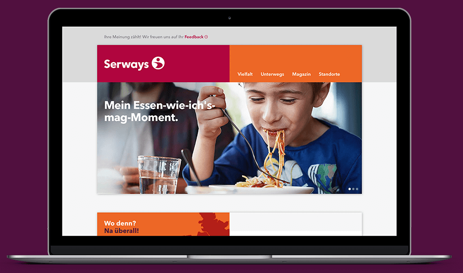 Serways Media Website Desktop View