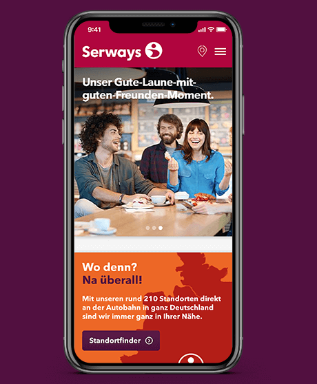 Serways Media Website Mobile View