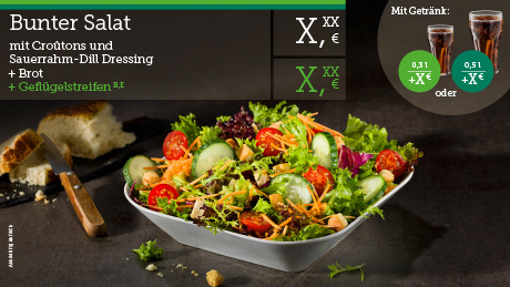 Tabilo display board salad